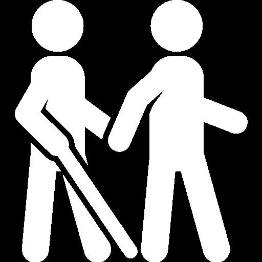 Symbol für Assistenz für Blinde- und sehbehinderte Menschen